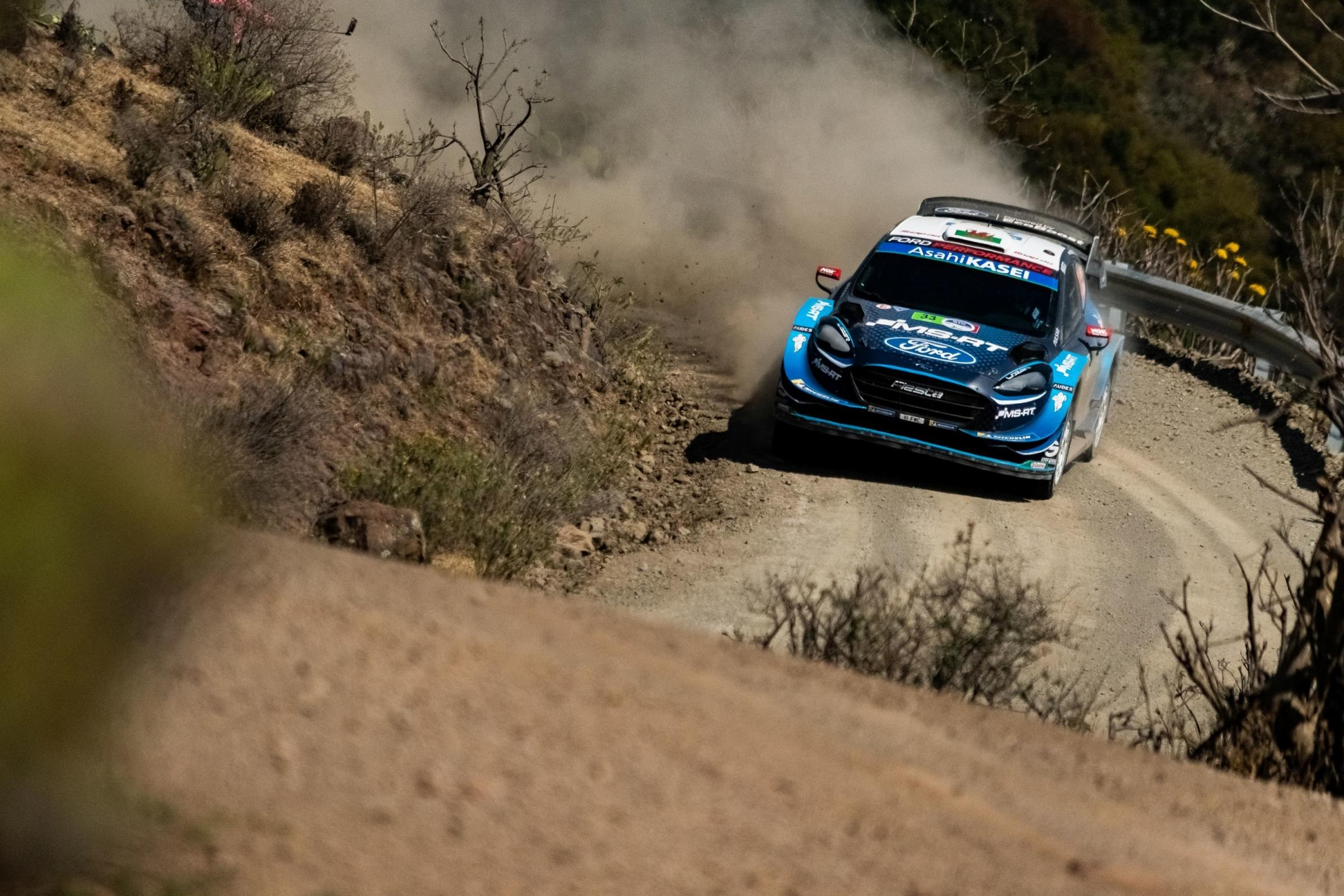 Third place: Elfyn Evans and Scott Martin on their way to a podium finish in Mexico (Photo: Daniel Aguilera)