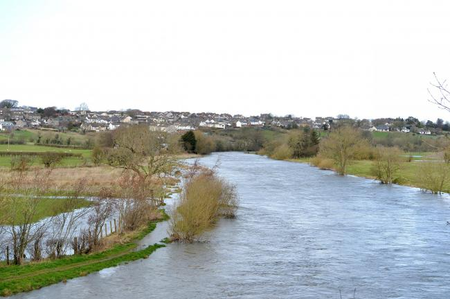 Flood problems: The River Derwent burst its banks near Cockermouth in March