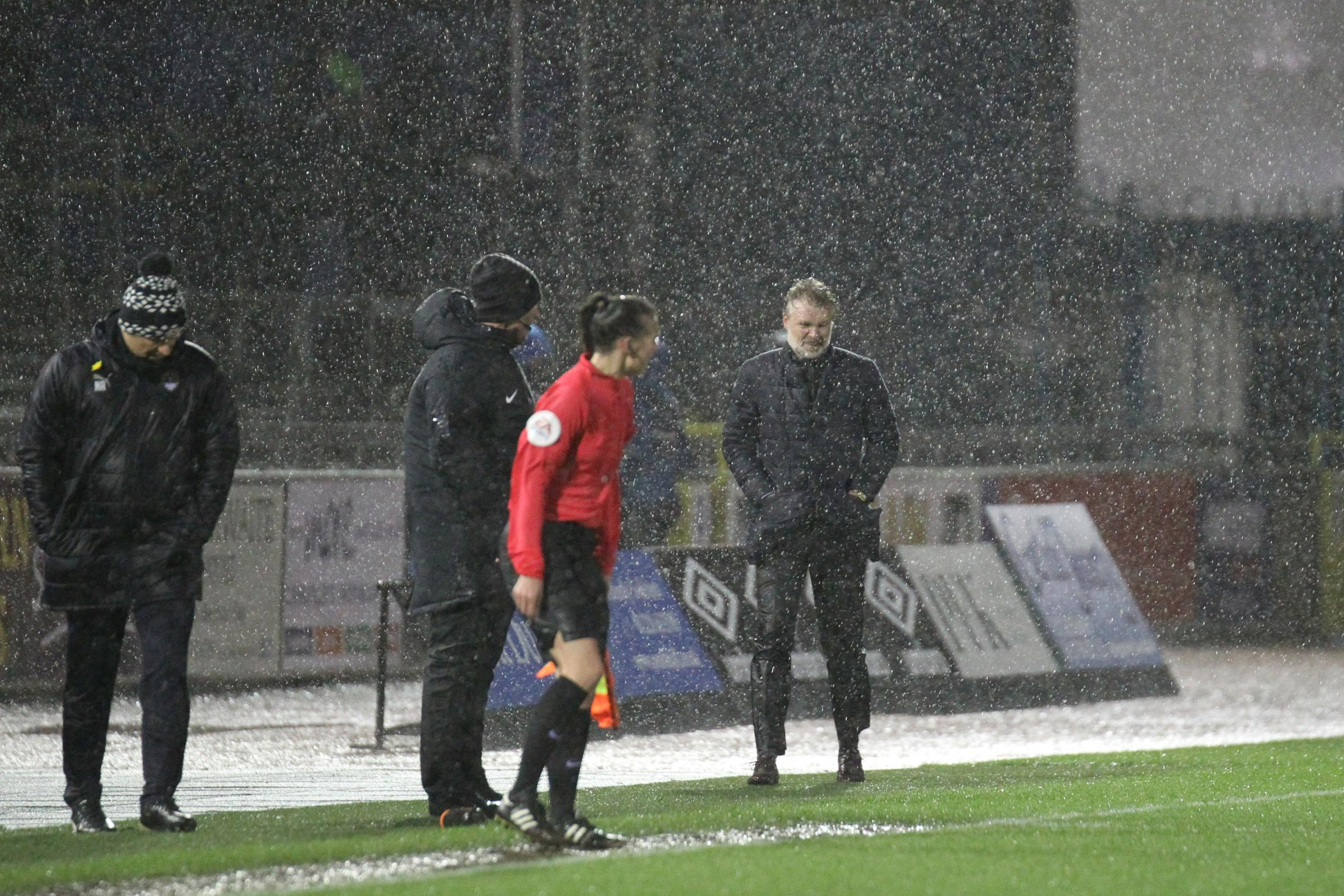 Steven Pressley on the touchline during United's defeat to Notts County (photo: Barbara Abbott)