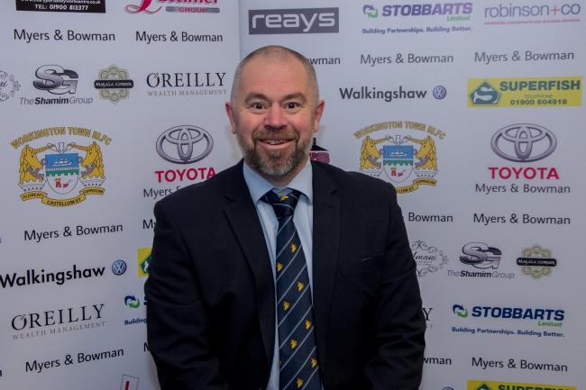 CHAIRMAN: Workington Town's Les Smallwood is keen to see the season get under way	 GARY MCKEATING