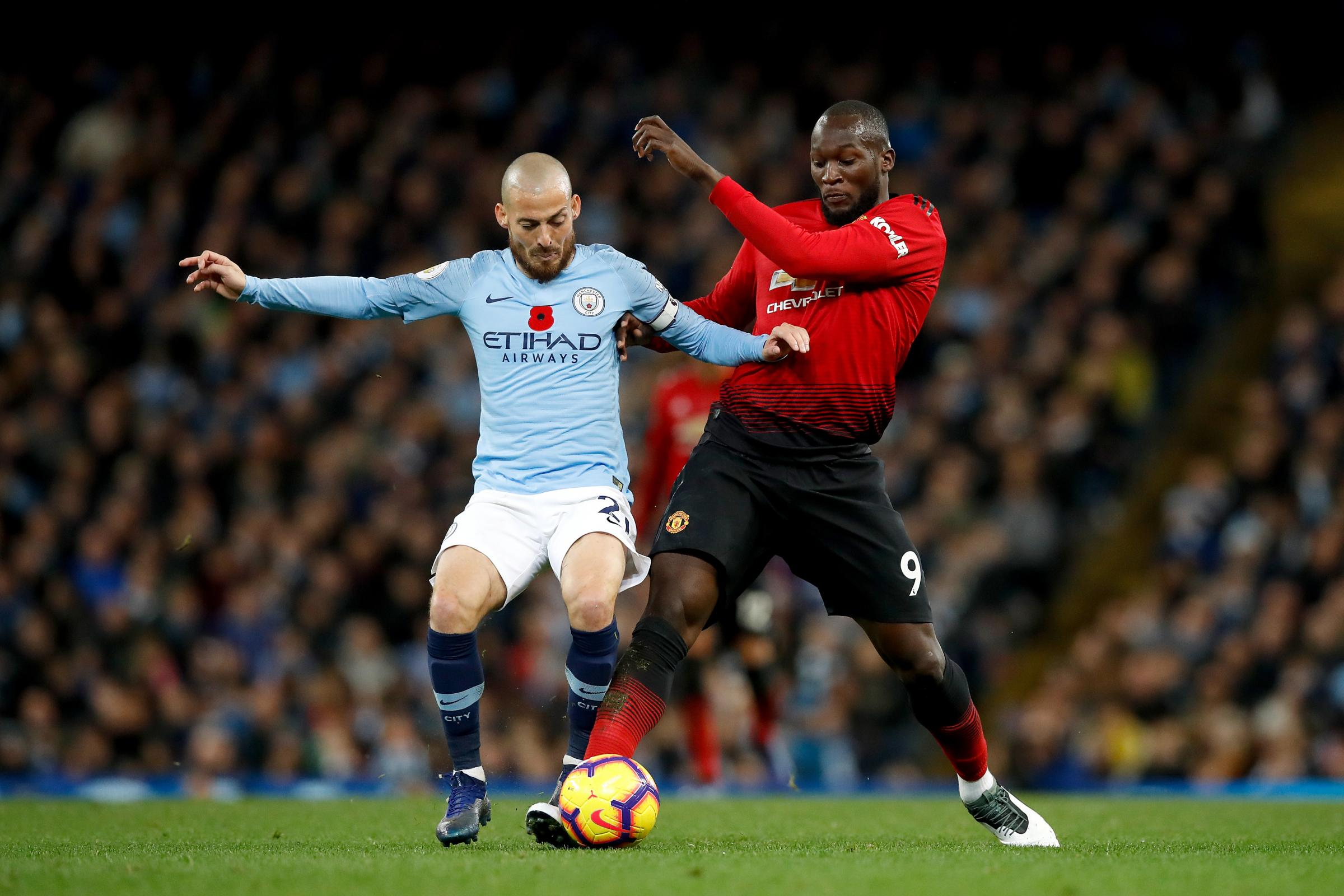 David Silva (left) and Romelu Lukaku