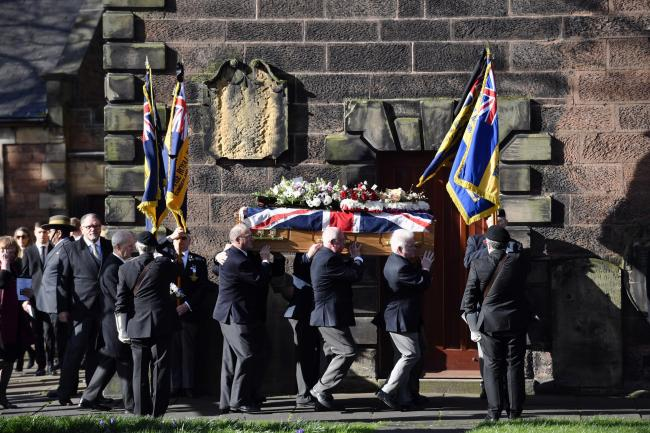 The funeral of Retired Major Jos Mark from Lowry Hill, Carlisle. Joss served in World War Two and notably in the Normandy Campaign which saw the largest amphibious force in history land on the beaches of France which led to the liberation of Europe: 4 Mar