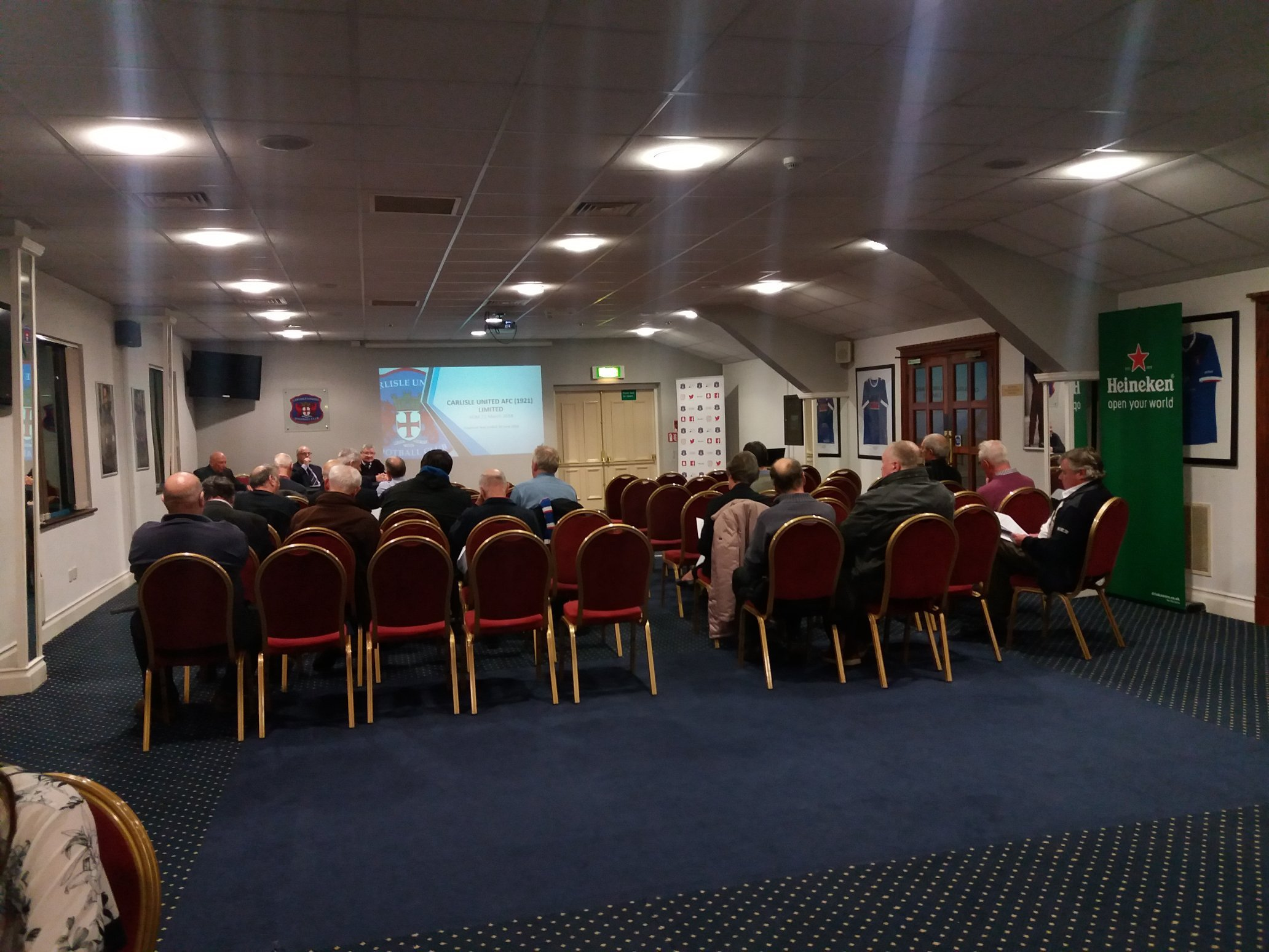 Sparse: Foxy's Restaurant wasn't exactly packed to the rafters with shareholders for Carlisle United's annual general meeting this week