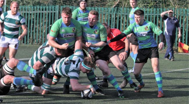 Try time: Dan Richardson scores Penrith's fourth try, his second of the day at Burnage (Photo: David Nattrass)
