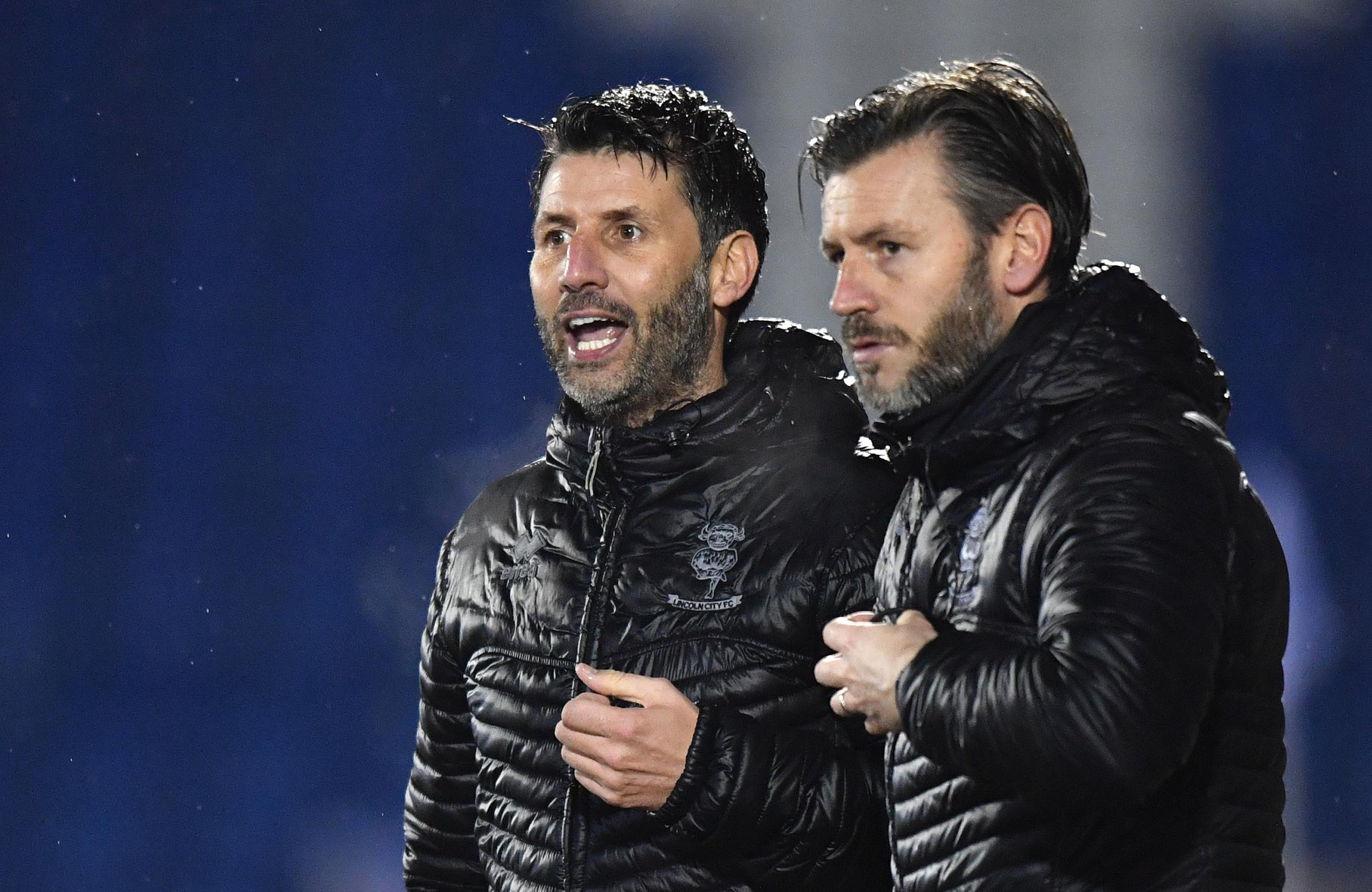 In charge: Lincoln's Danny and Nicky Cowley (Photo: PA)