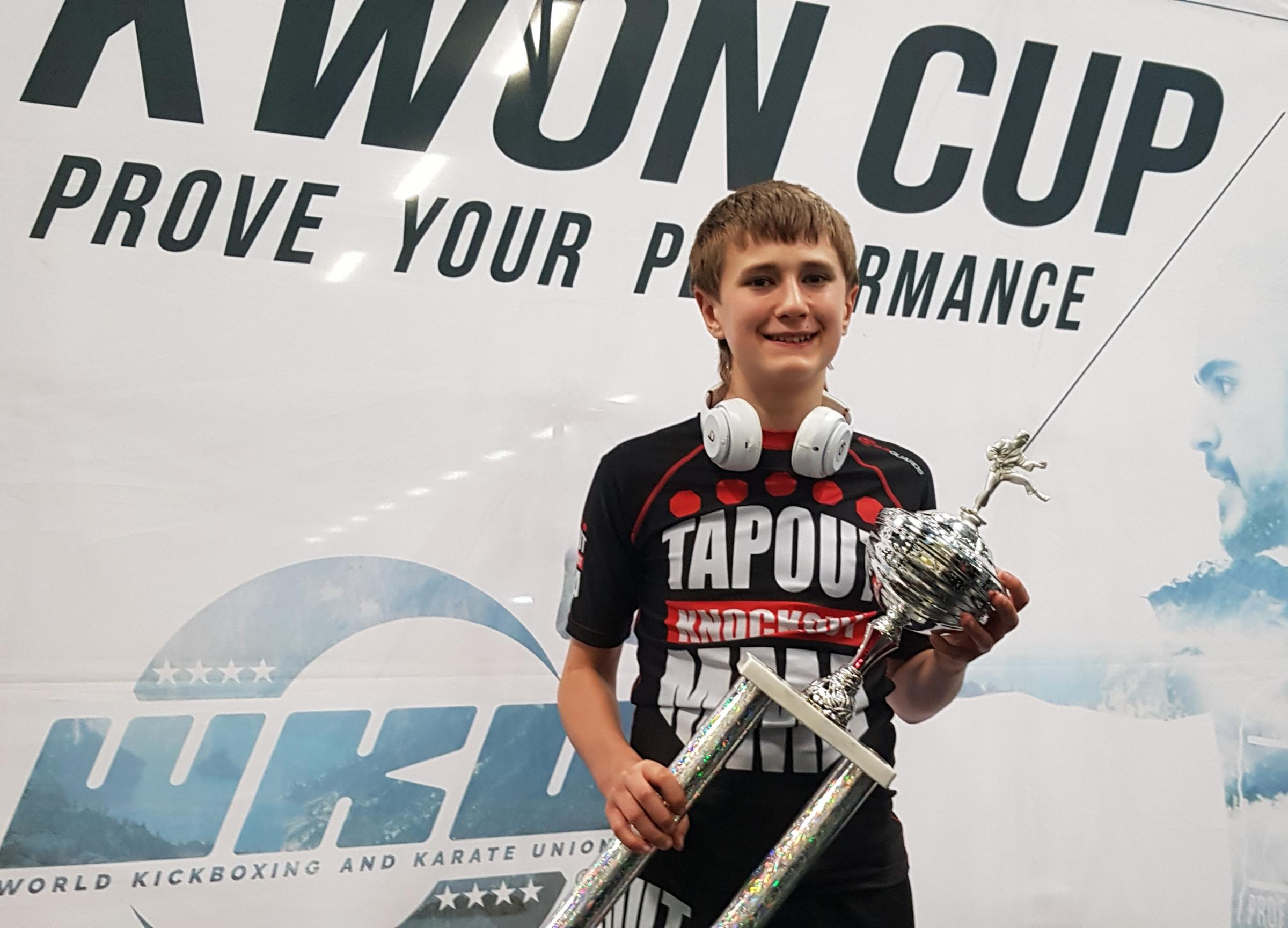 VICTORY: Thomas Johnston after his Fibo Cup win