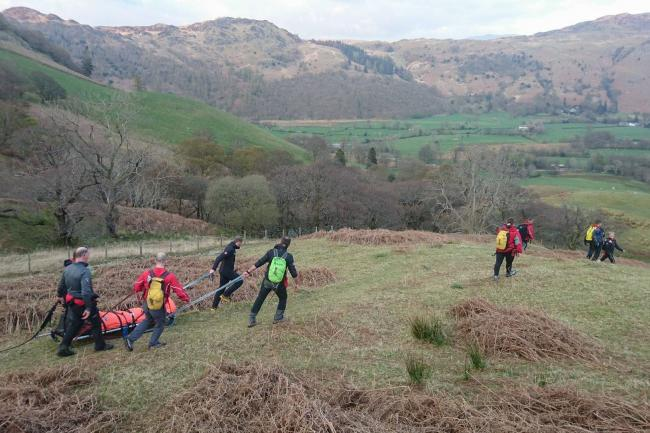 CALL OUT: Keswick Mountain Rescue Team were called out to  Rigghead Quarries, Rosthwaite on Thursday afternoon             Photo: Keswick MRT