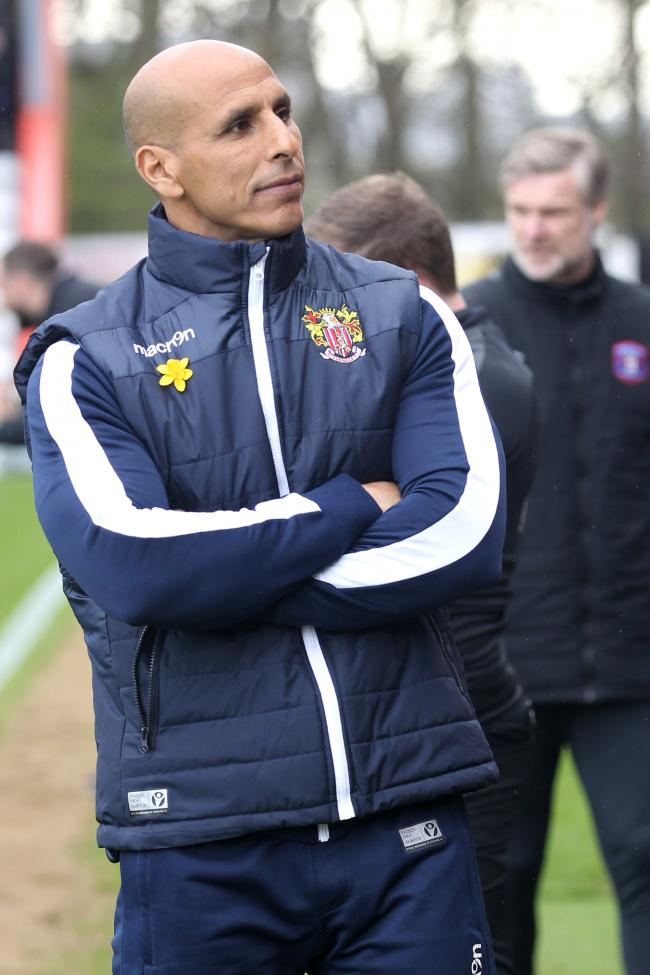 Delighted: Stevenage's Dino Maamria (Photo: Barbara Abbott)