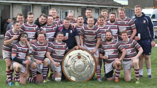 Whitehaven RU with the Cumbria Shield. Picture: Peter Trainor