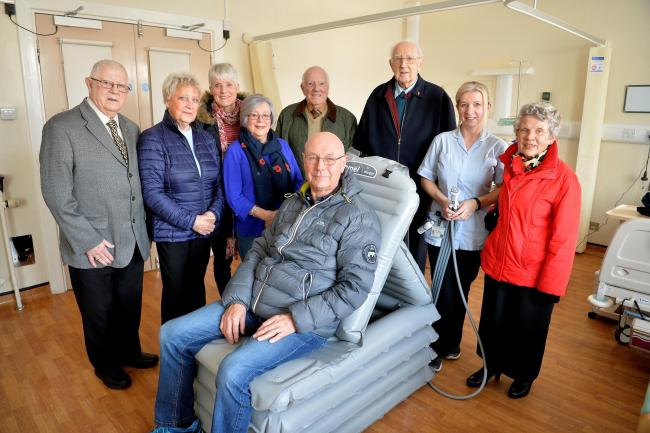 SUPPORT: Treasurer Mauric Tate and members of the Maryport Hospital League of Friends are still buying equipment for the good of local patients in hospital or at home ... Photo: Tom Kay
