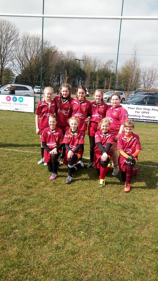 UP AND RUNNING: Netherhall girls under-13s