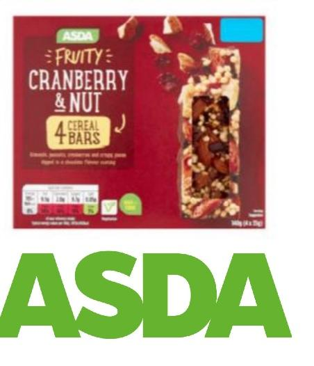 'DO NOT EAT IT' - Asda cereal bars could contain salmonella