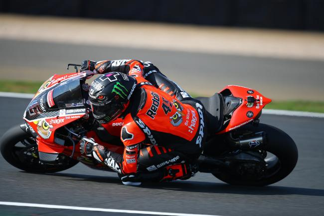GREAT START: Scott Redding in action for Be Wiser Ducati at Silverstone Picture: Double Red Photographic
