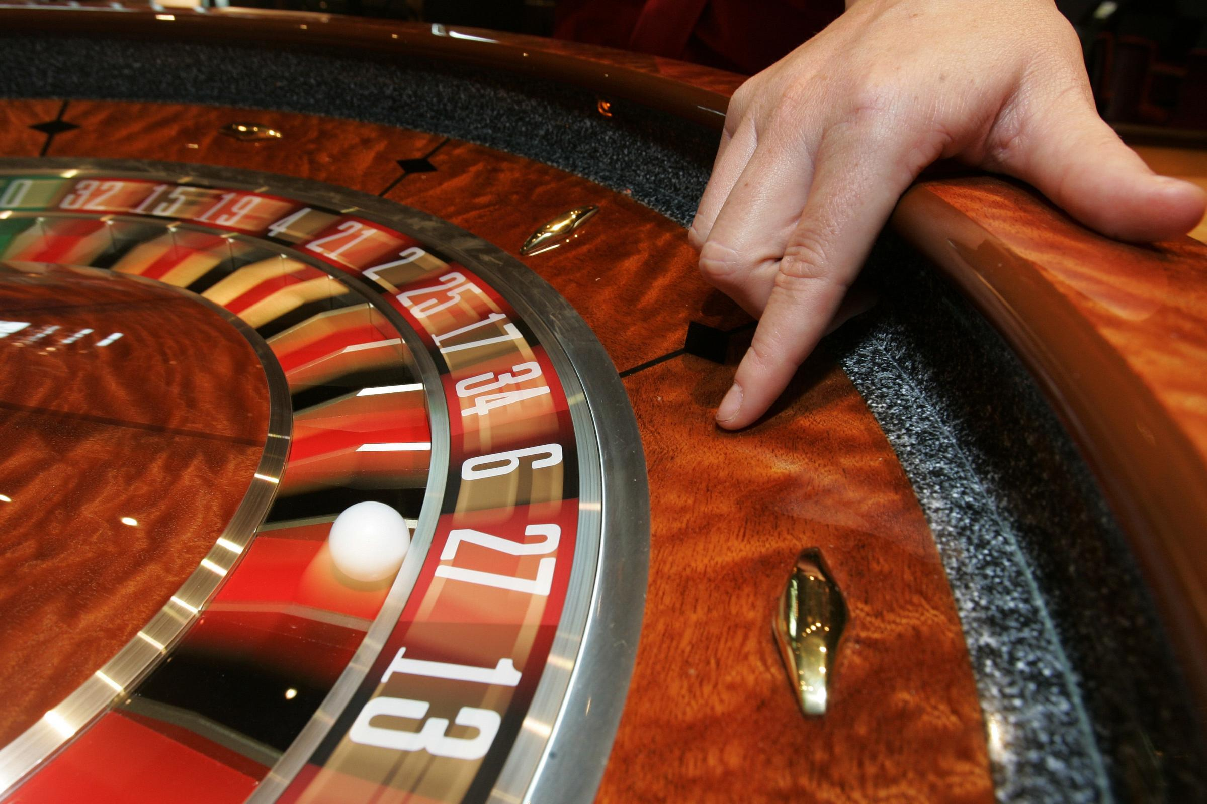 A roulette table