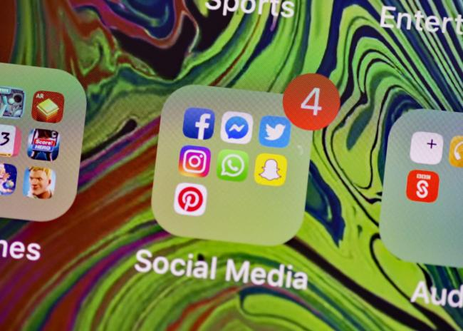 File photo of social media icons