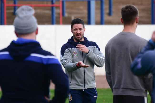 Hopes: New Town coach Chris Thorman	             Gary McKeating