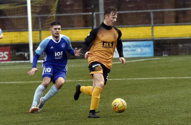 Fitness doubt: Annan Athletic defender Scott Hooper (Photo: Louise Porter)