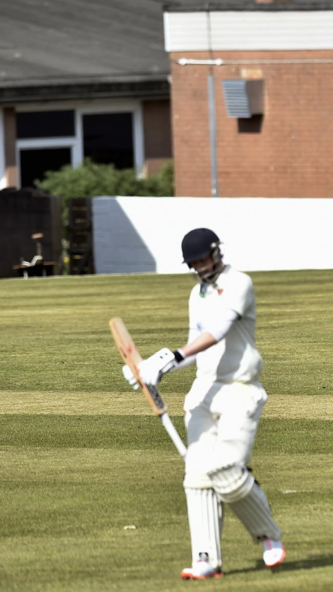 Jordan Whinn: Got a fine unbeaten 54 for Carlisle's second-team (Photo: Louise Porter)