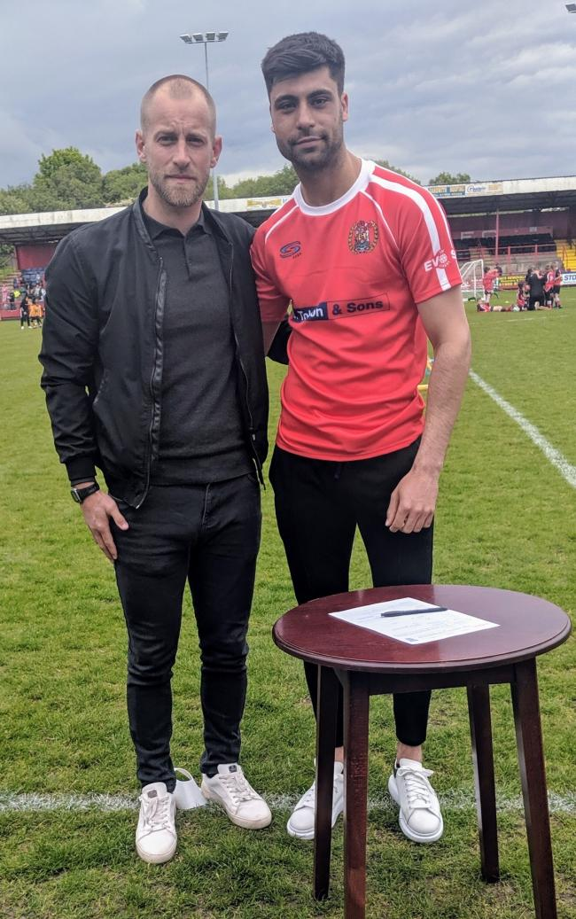 New boss: Danny Grainger with his first Reds signing, Nathan Waterston