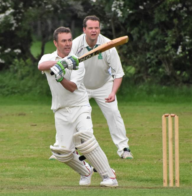 Hitting out: Mark Modlin top-scored with 34 for Kirkby Stephen's 2nds in defeat to Braithwaite (Photo: Ben Challis)