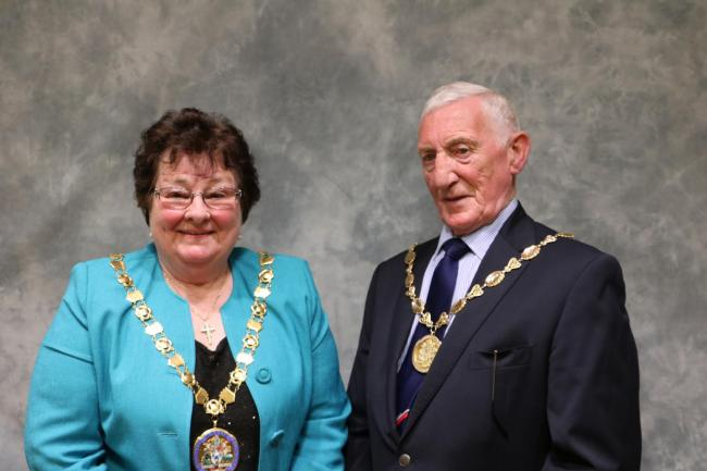 NEW ROLES: New Mayor of Allerdale Hilary Harrington and deputy mayor Malcolm Grainger