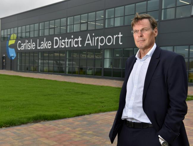 Warwick Brady Group Chief Executive Officer of Stobart Group pictured at the companies offices at Carlisle Lake District Airport