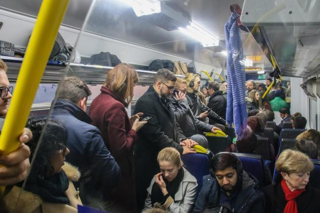 Standing ROOM ONLY: A Northern Rail service - the company is often criticised on social media