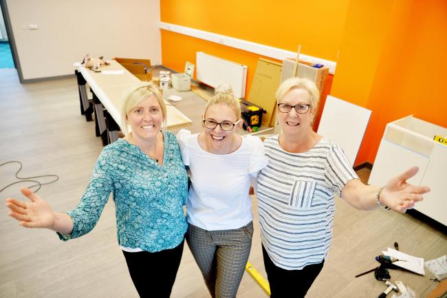 The new women's centre in Whitehaven is almost ready to open..Rachel Holliday from Calderwood House, Emma Williamson from Copeland Borough Council and Jo Booth director of Time to Change West Cumbria in the new building..PHOTO TOM KAY        20 MAY 20