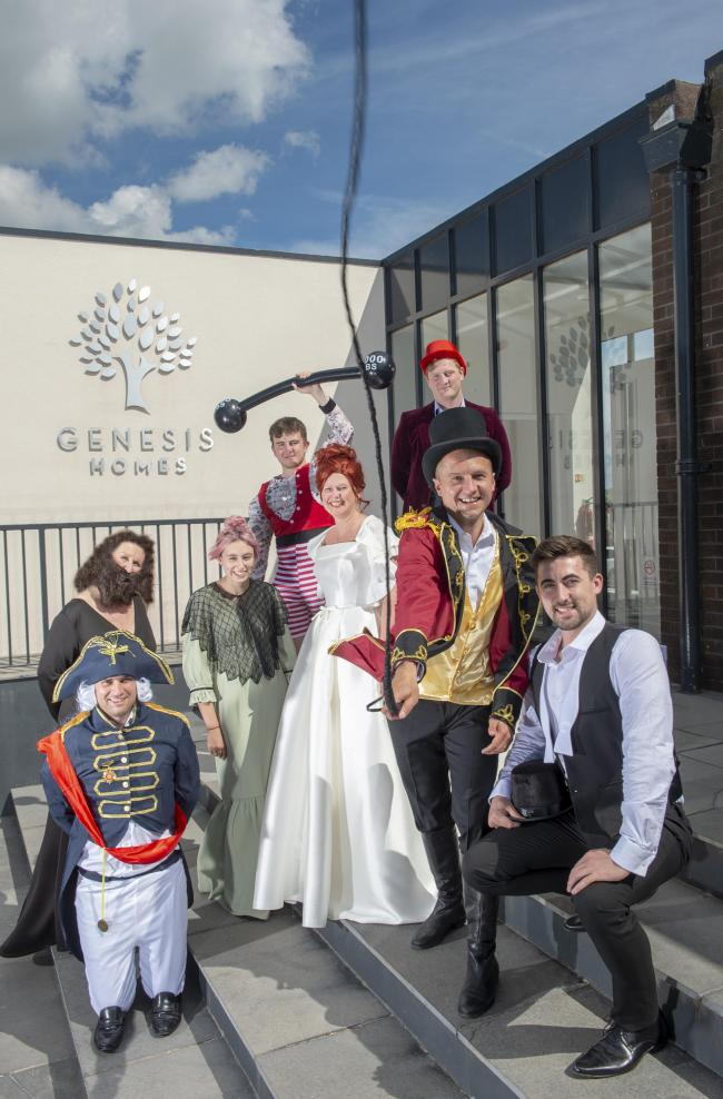 SHOW: Staff at the Genesis Homes getting in character ready for the charity ball.