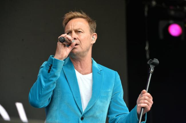 Jason Donovan playing at Let's Rock Wales in Tredegar Park . .www.christinsleyphotography.co.uk.