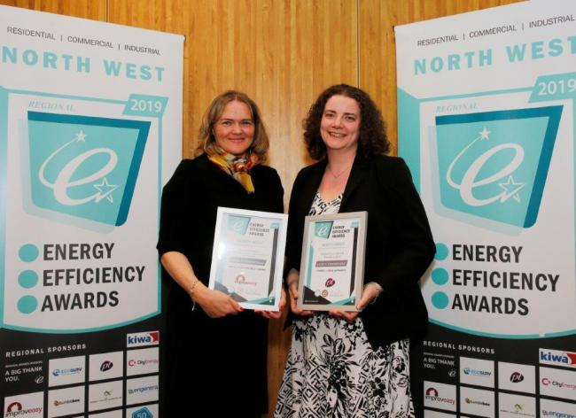 SUCCESS: Kirsty Brown and Amy McDonald pick up their award
