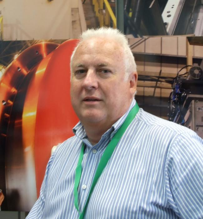 Delighted: John Coughlan, of TSP Engineering, in Workington