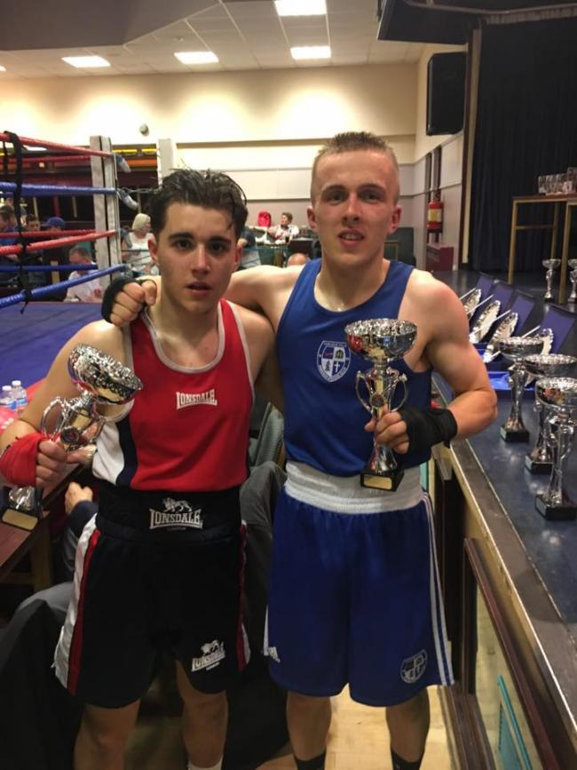 Away win: Mikey Burgess, right, beat Josh Karaca on the High Fell ABC open show